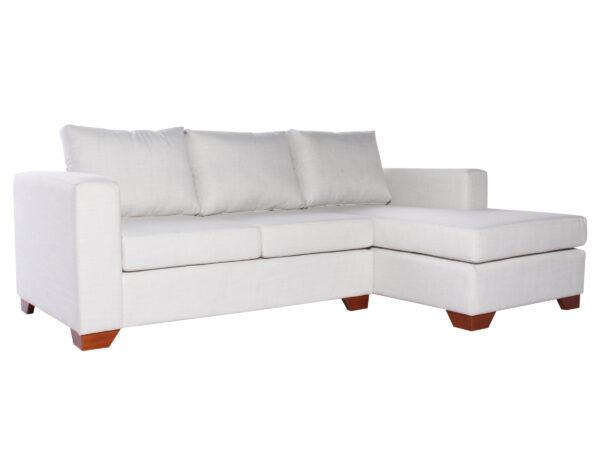 Sofa Seccional Monaco Derecho New York Antimanchas Crudo iso