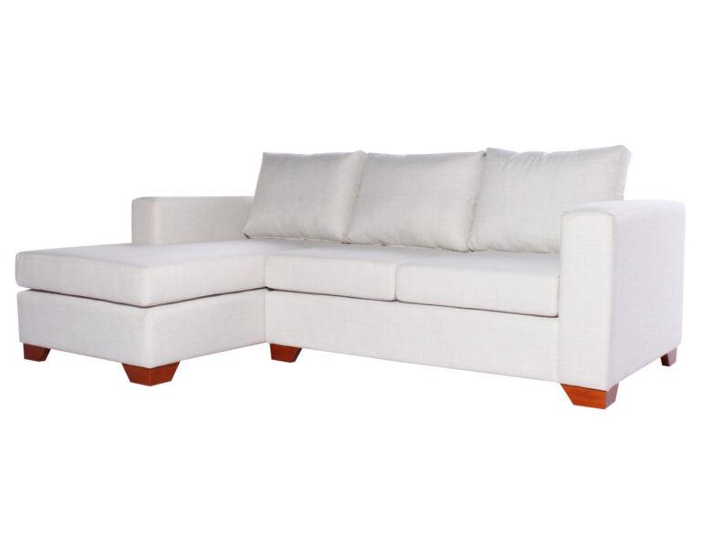 Sofa Seccional Monaco Izquierdo New York Antimanchas Crudo iso