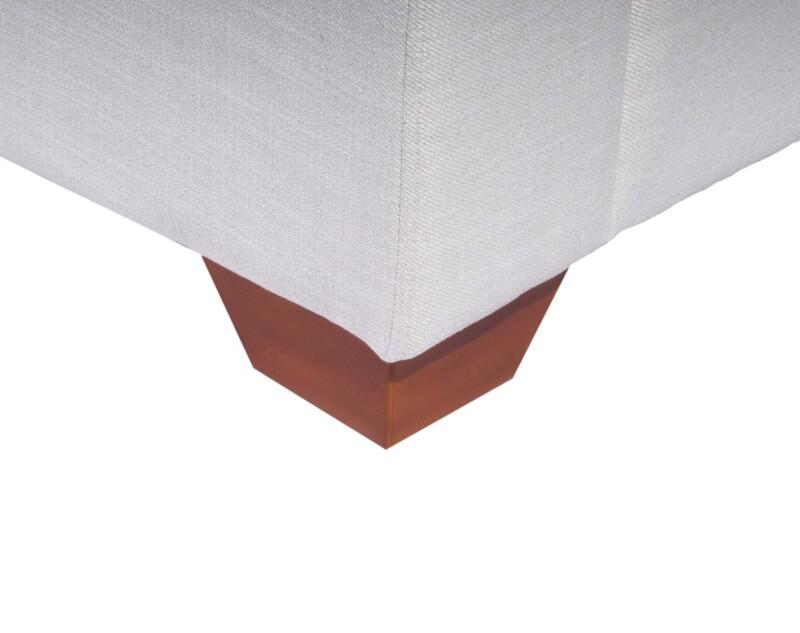 Sofa Seccional Monaco Izquierdo New York Antimanchas Crudo pata madera