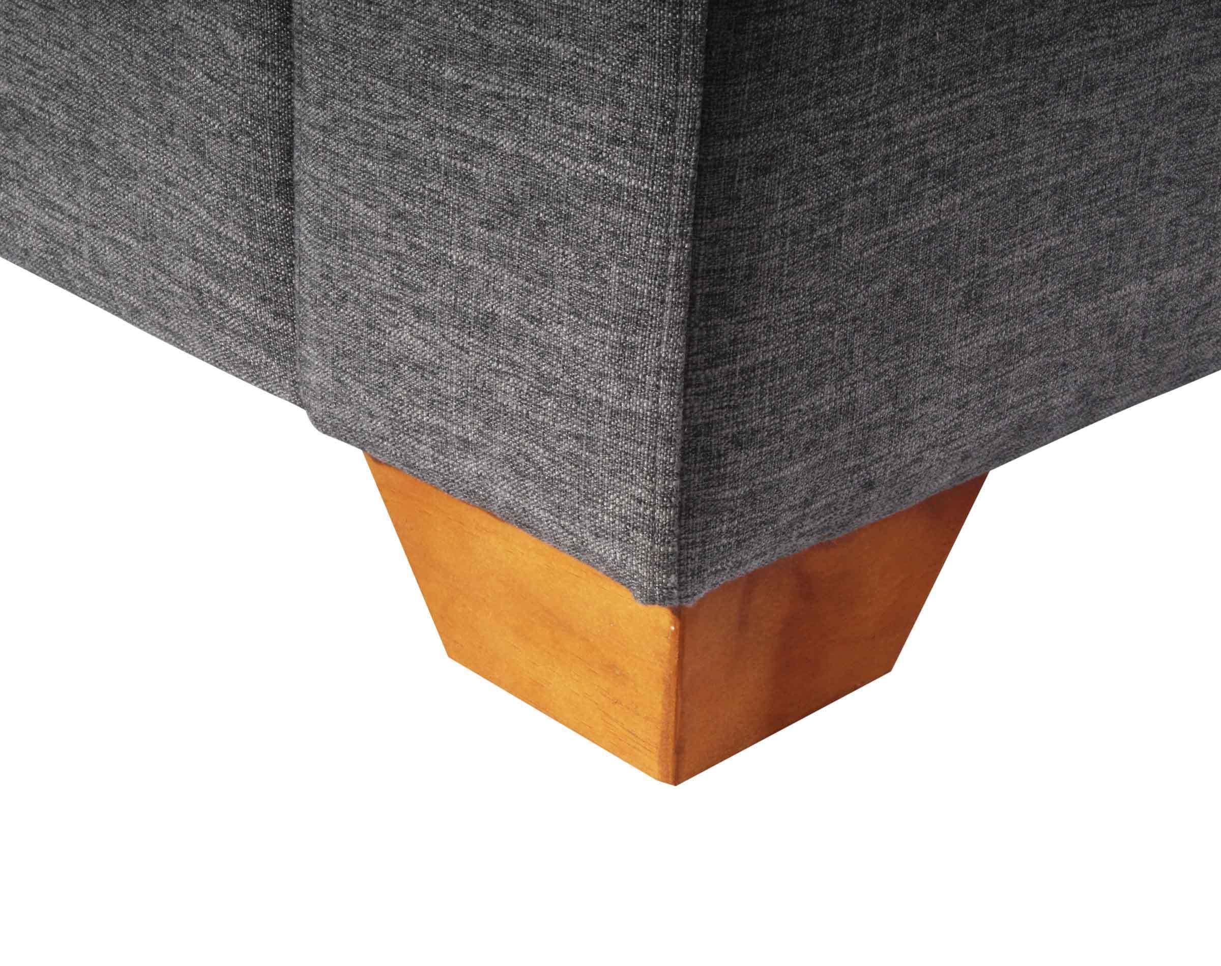 Sofa Thomas Inside Antimanchas Gris pata de madera