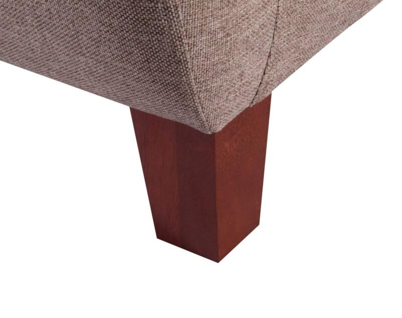 Sofa 2 Cuerpos Amanda XSD Tostado Pata de madera
