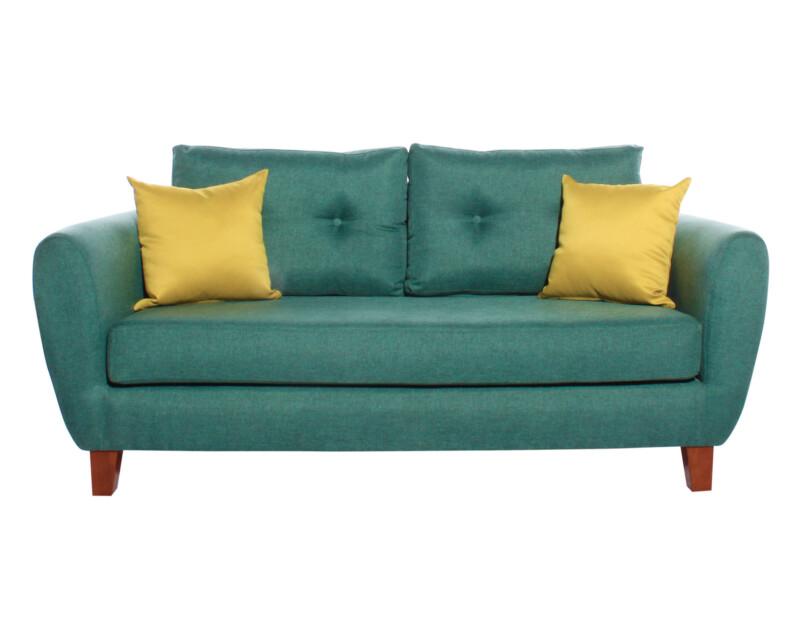 Sofa 2 Cuerpos Amanda Santorini esmeralda