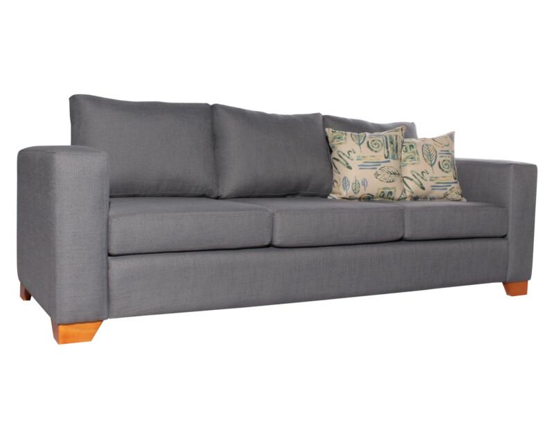 Sofa 3 Cuerpos Monaco New York gris iso