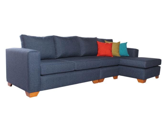 Sofa Seccional Monaco Derecho XSD Butaca Azul iso