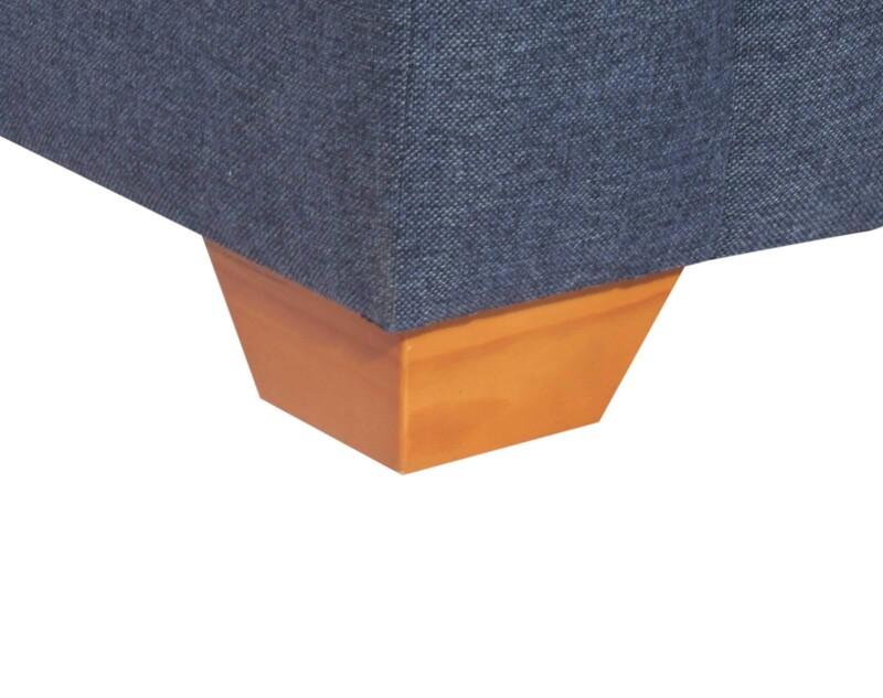 Sofa Seccional Monaco Derecho XSD Butaca Azul pata madera color miel
