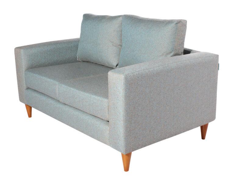 Sofa 2 cuerpos Tai Chenille FD cian iso