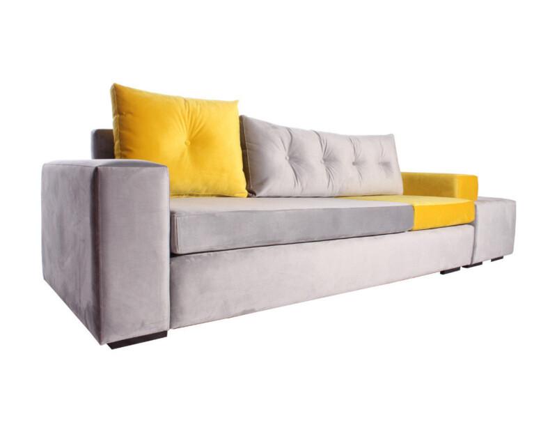 Sofá modular Felpa Art Perla/Amarillo