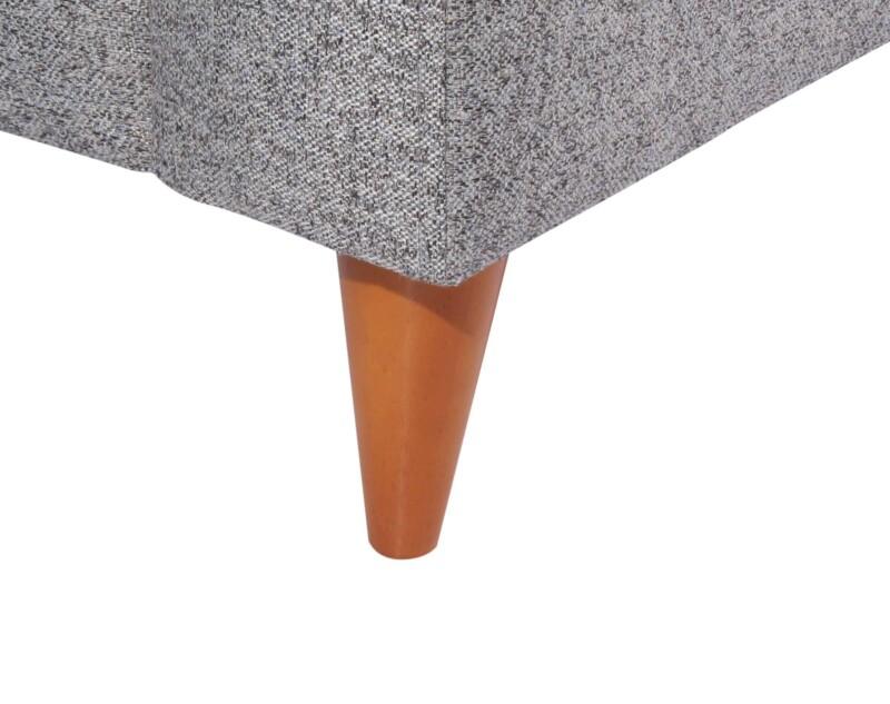 Sofa 3 cuerpos Tai Chenille FD gris patas conicas