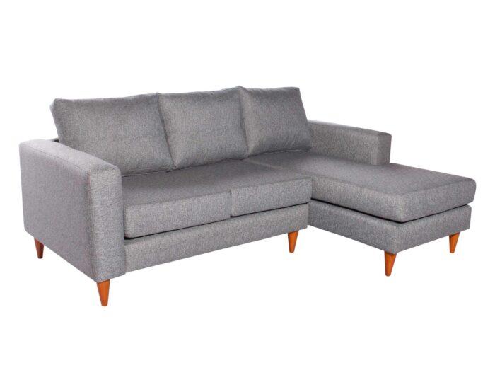Sofa Seccional Tai derecho Chenille FD gris iso