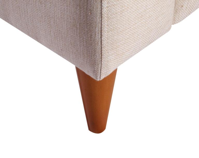 Sofa Seccional Tai izquierdo XSD beige patas conicas