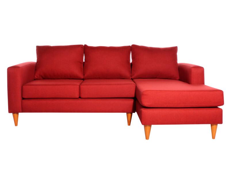 Sofá seccional Tai derecho Fur rojo