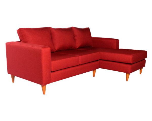 Sofa seccional Tai derecho Fur rojo iso
