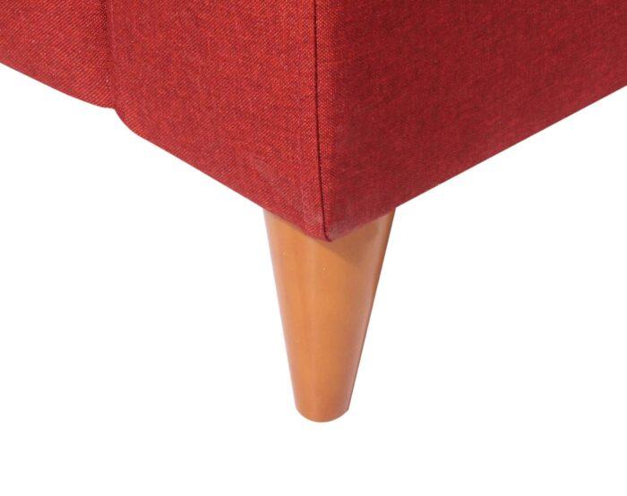 Sofa seccional Tai derecho Fur rojo patas conicas