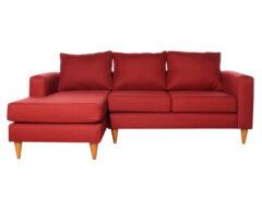Sofá seccional Tai izquierdo Fur rojo
