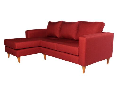 Sofa seccional Tai izquierdo Fur rojo iso