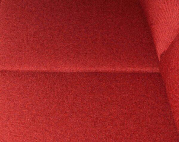 Sofa seccional Tai izquierdo tapiz Fur color rojo