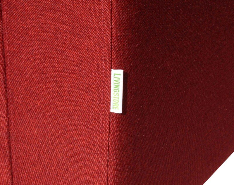 Sofa seccional Tai izquierdo tapiz Fur rojo