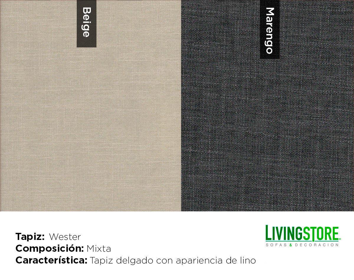 tapiz wester color beige y marengo
