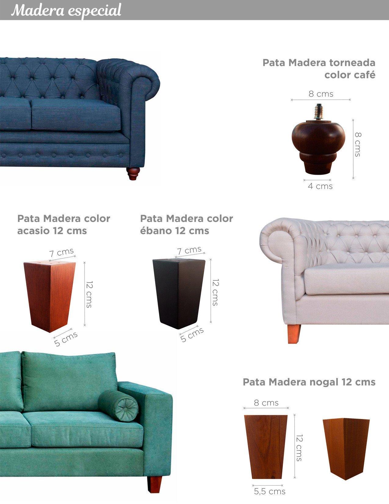 Patas para sofás - patas de madera y metálicas