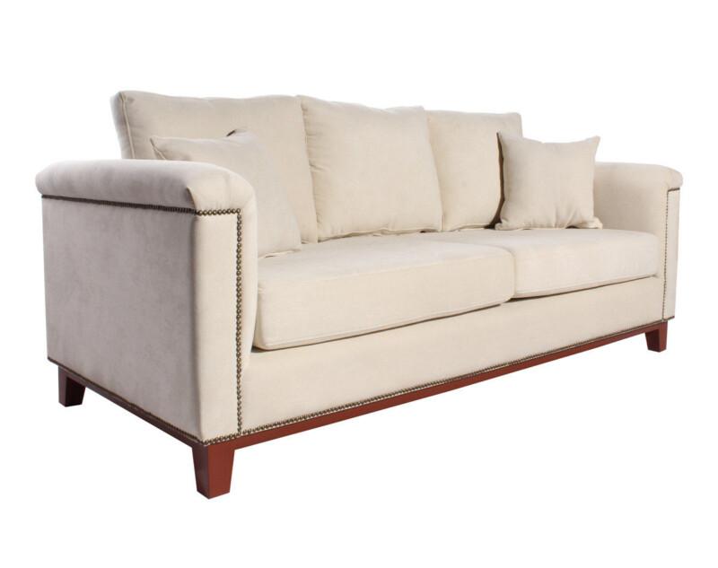 sofa 2 cuerpos especial terminaciones con clavos tapiceros iso