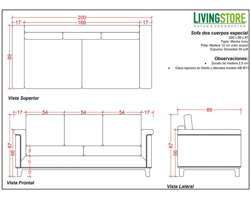 planimetria de sofa