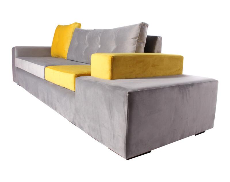 sofa modular con pouf