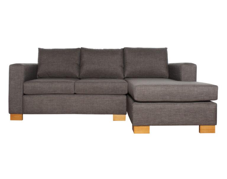 Sofa Cama Seccional Derecho 15 Plazas Bariloche Gris
