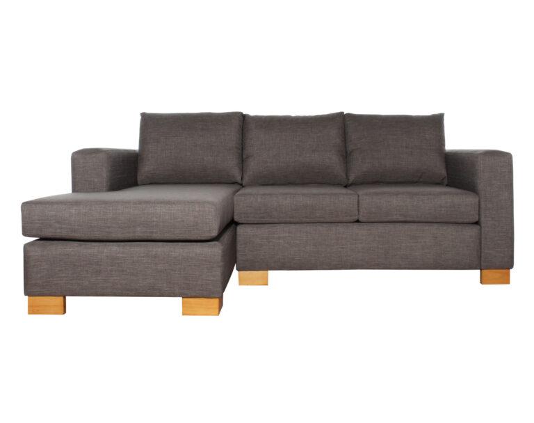 Sofa Cama Seccional Izquierdo 15 Plazas Bariloche Gris