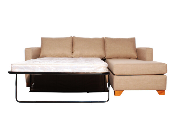 Sofa cama seccional derecho Bariloche 226x150cm abierto
