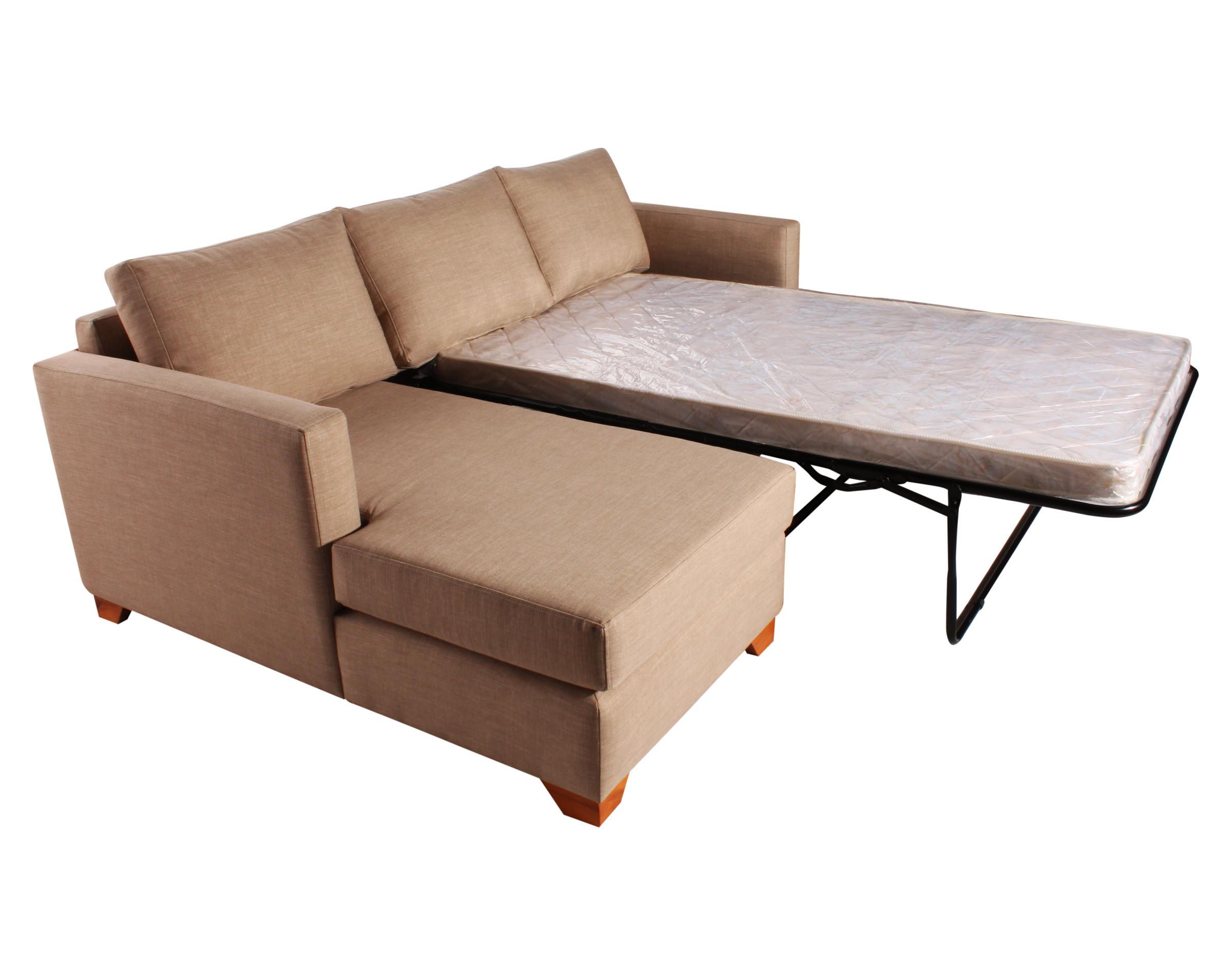 Sofa cama seccional izquierdo Bariloche 226x150cm abierto lateral