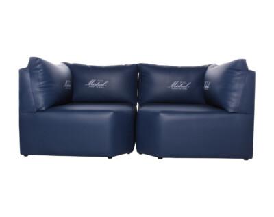 Sofá para discoteque con logotipo corporativo retapizado mistral