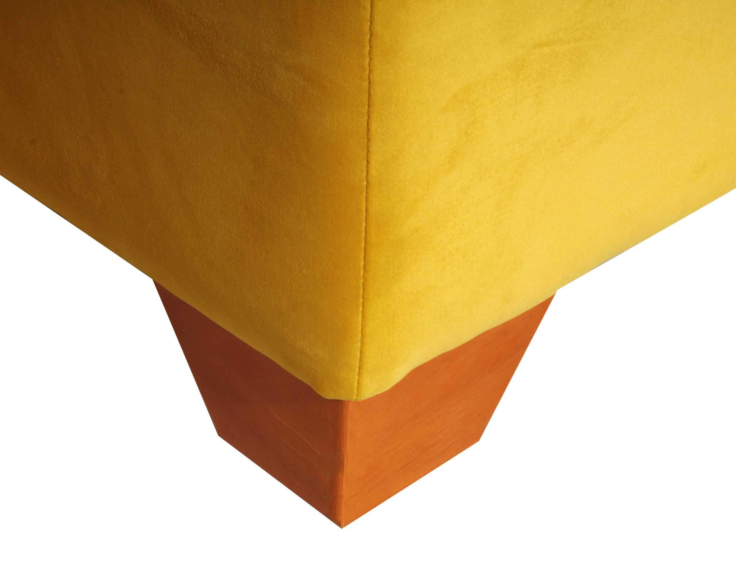 Pata de madera corte ángulo para sofa