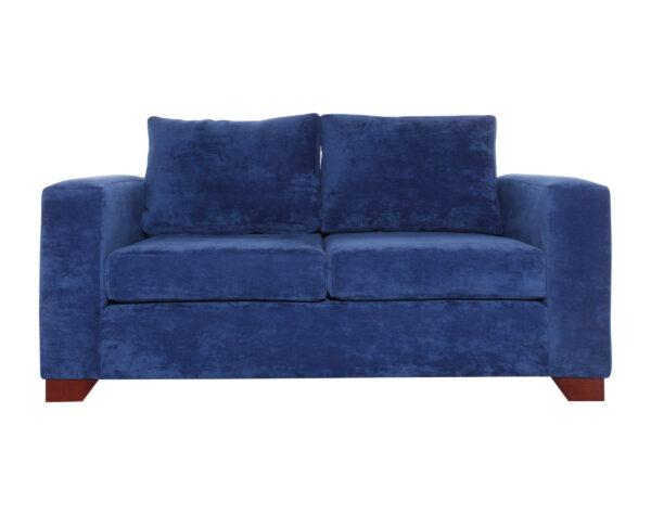 sofa monaco 2 cuerpos pana isabella azul