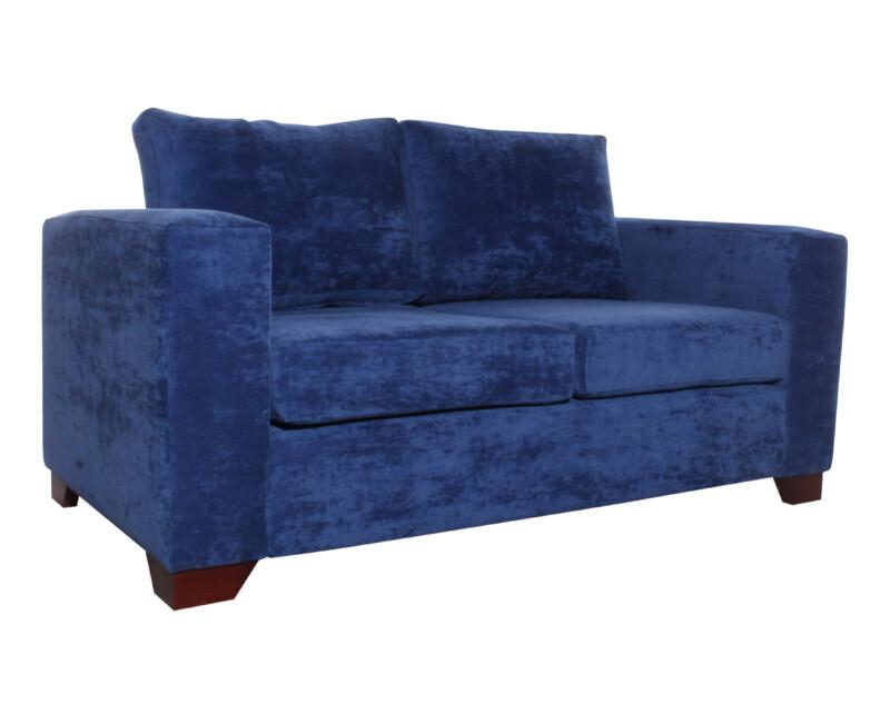 sofa monaco 2 cuerpos pana isabella azul iso