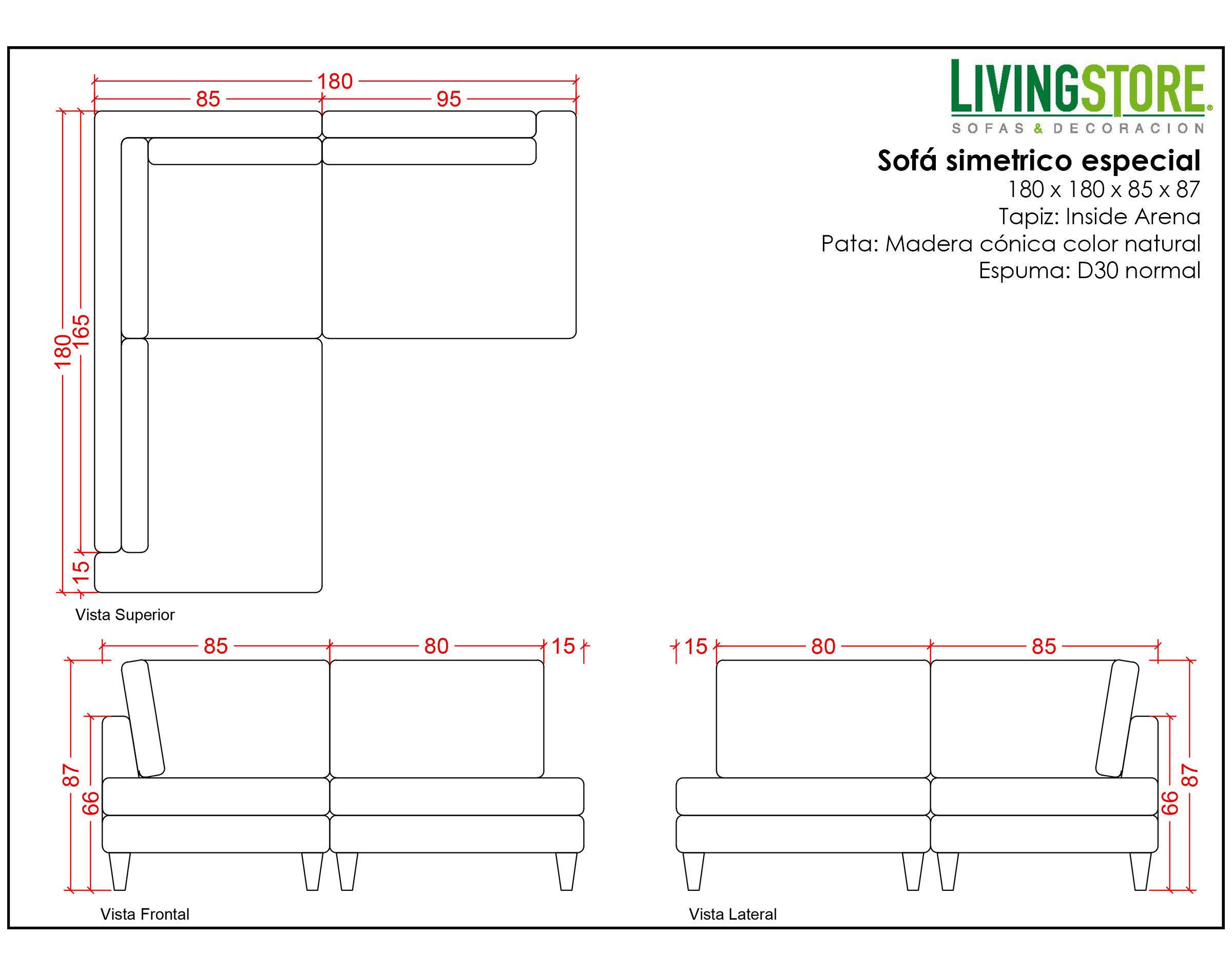 diseño de sofa esquinero