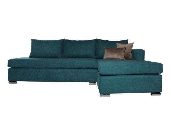 Sofá con chaise longue personalizado Mecha con patas metálicas
