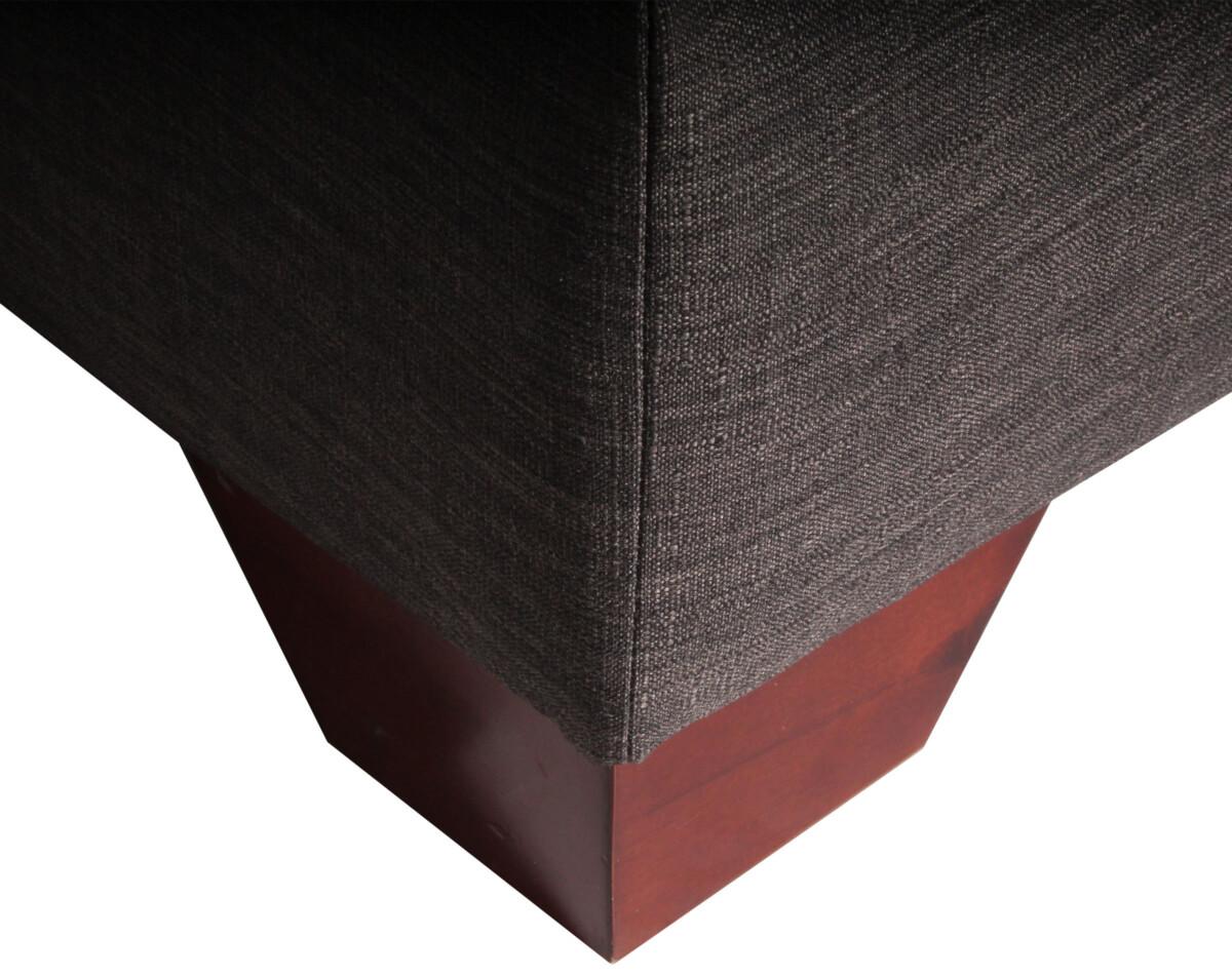 Sofa Modular Con Forma De U Pata Corte Angulo Color Caoba