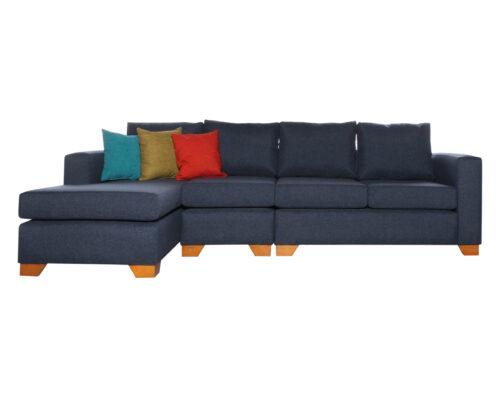 Sofá Seccional Mónaco Izquierdo Xsd Azul Butaca