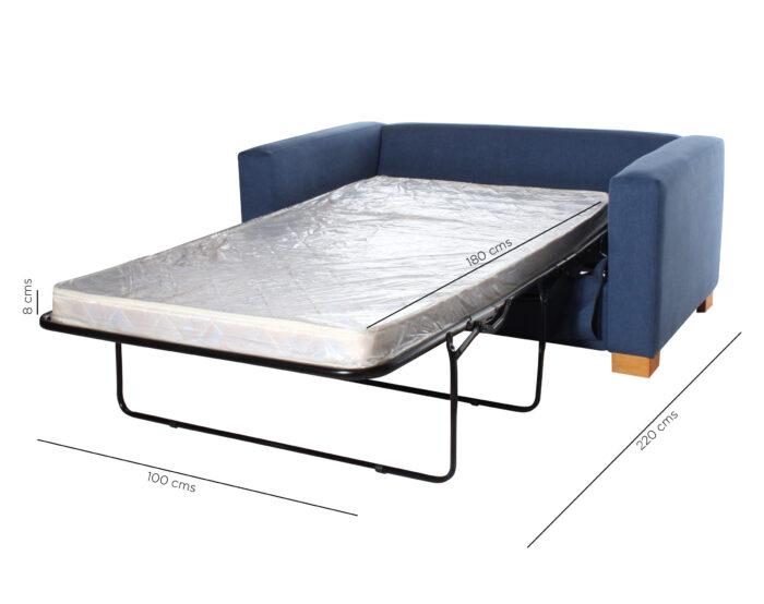 Sofa Cama urban 2 Cuerpos Iso 168 Cms Medida Calafate Azulindigo