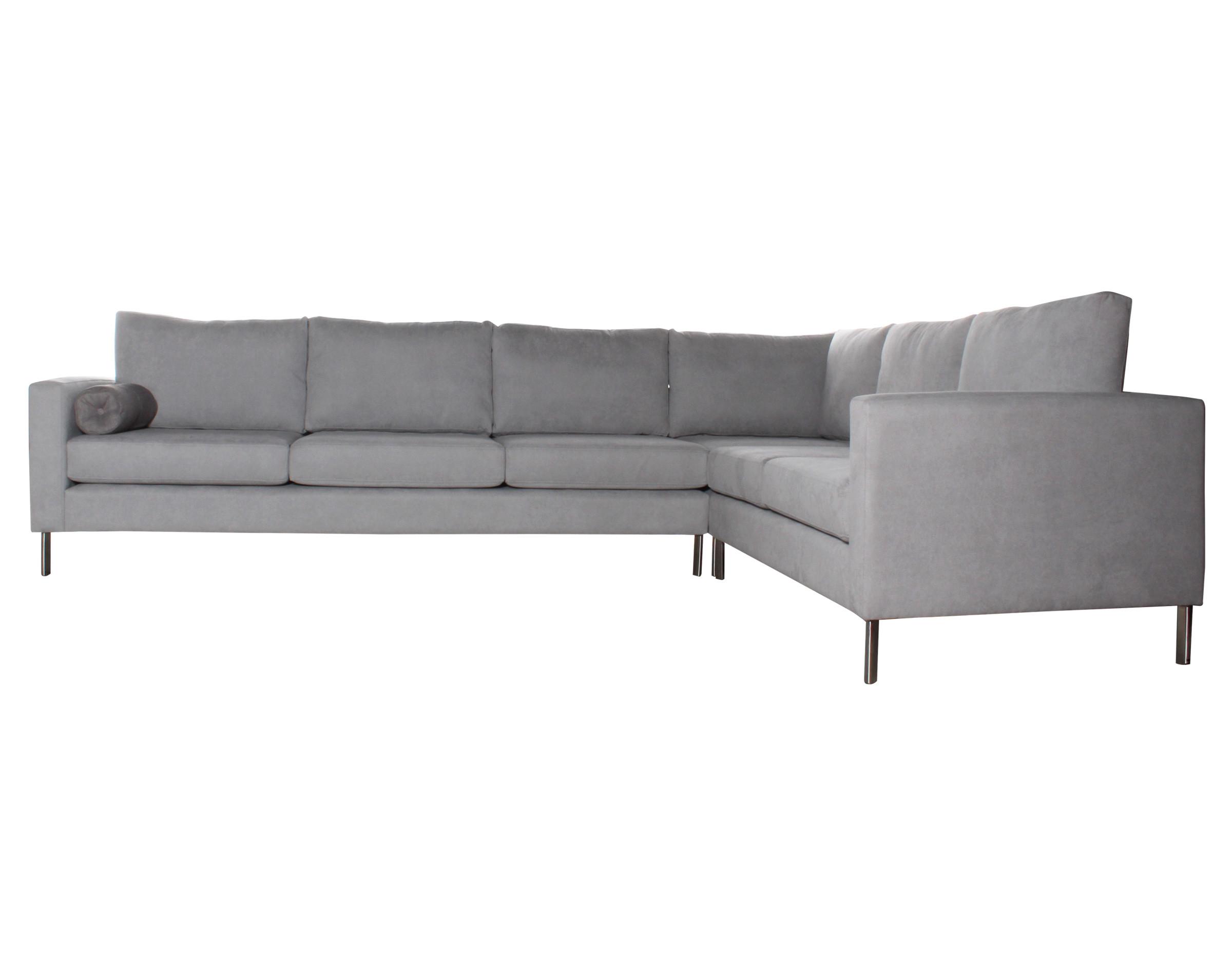 Sofá modular Dresde perla con patas metálicas
