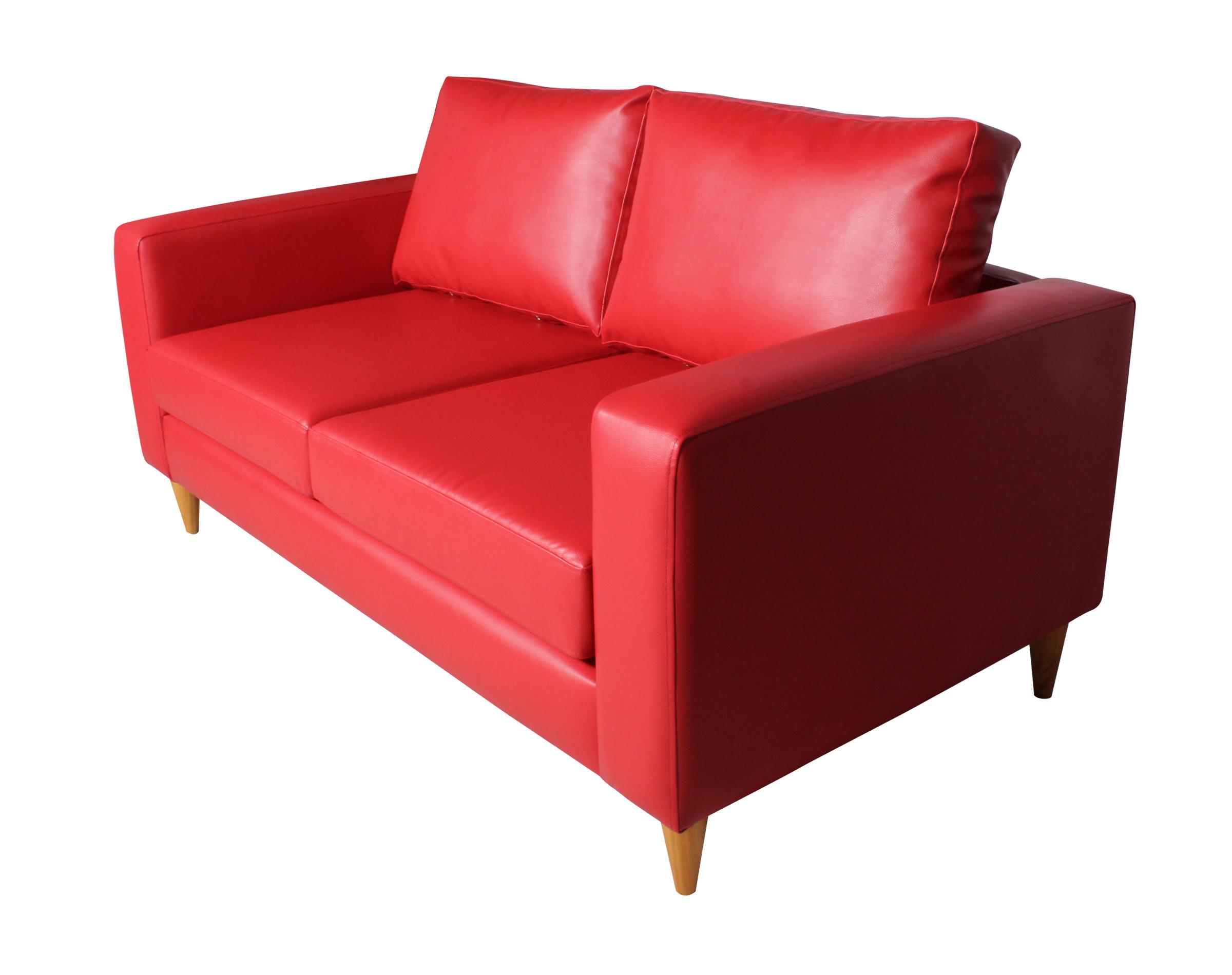 Sofá 2 Cuerpos Tai Pu Pana Rojo Iso