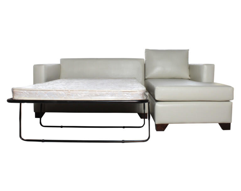 Sofa Cama Seccional Derecho 15 Plazas Pu Clean Abierto