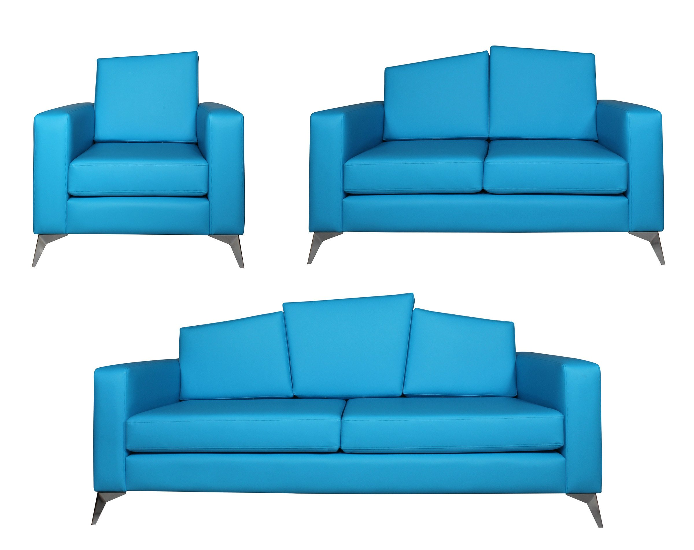 Set de sofás corporativos en cuero sintético