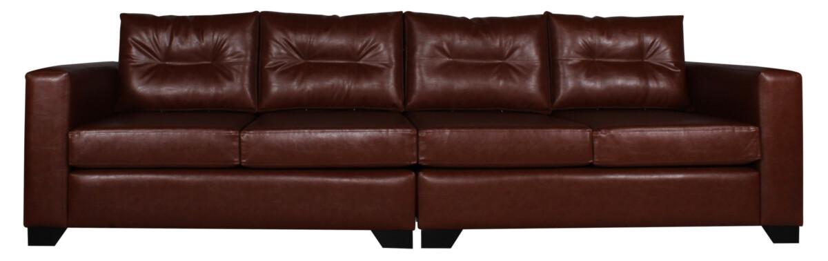 Sofa 4 Cuerpos Pu Clean Habano Cort01