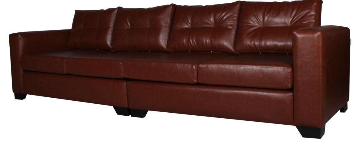 Sofa 4 Cuerpos Pu Clean Habano Cort02