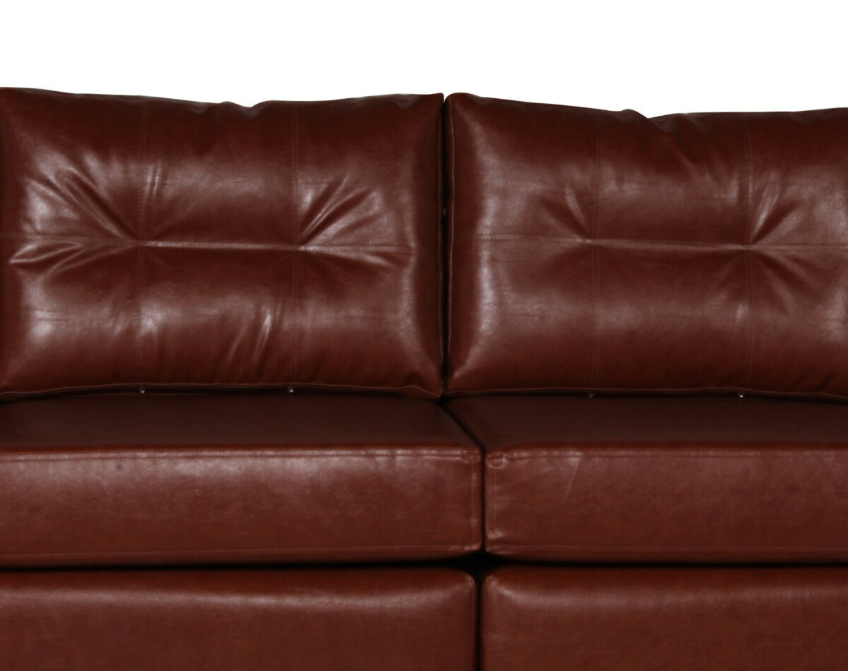 Sofa 4 Cuerpos Pu Clean Habano Detalle