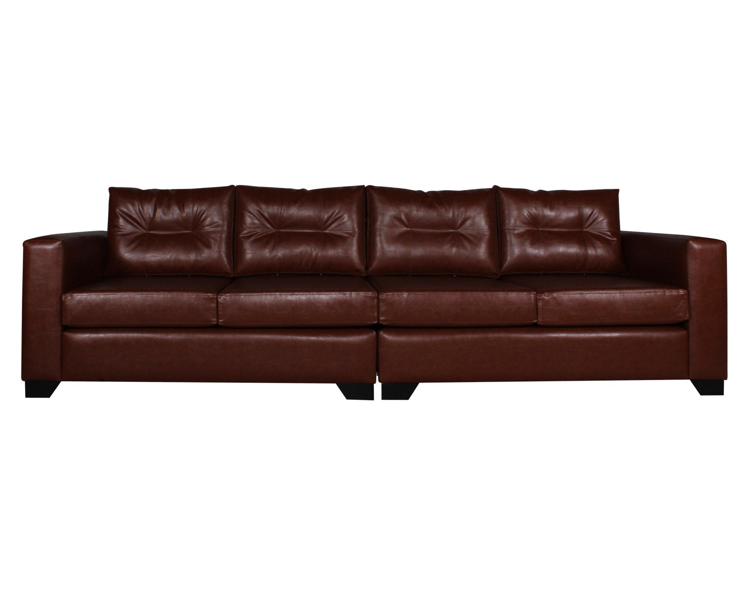 Sofa 4 Cuerpos Pu Clean Habano Frente