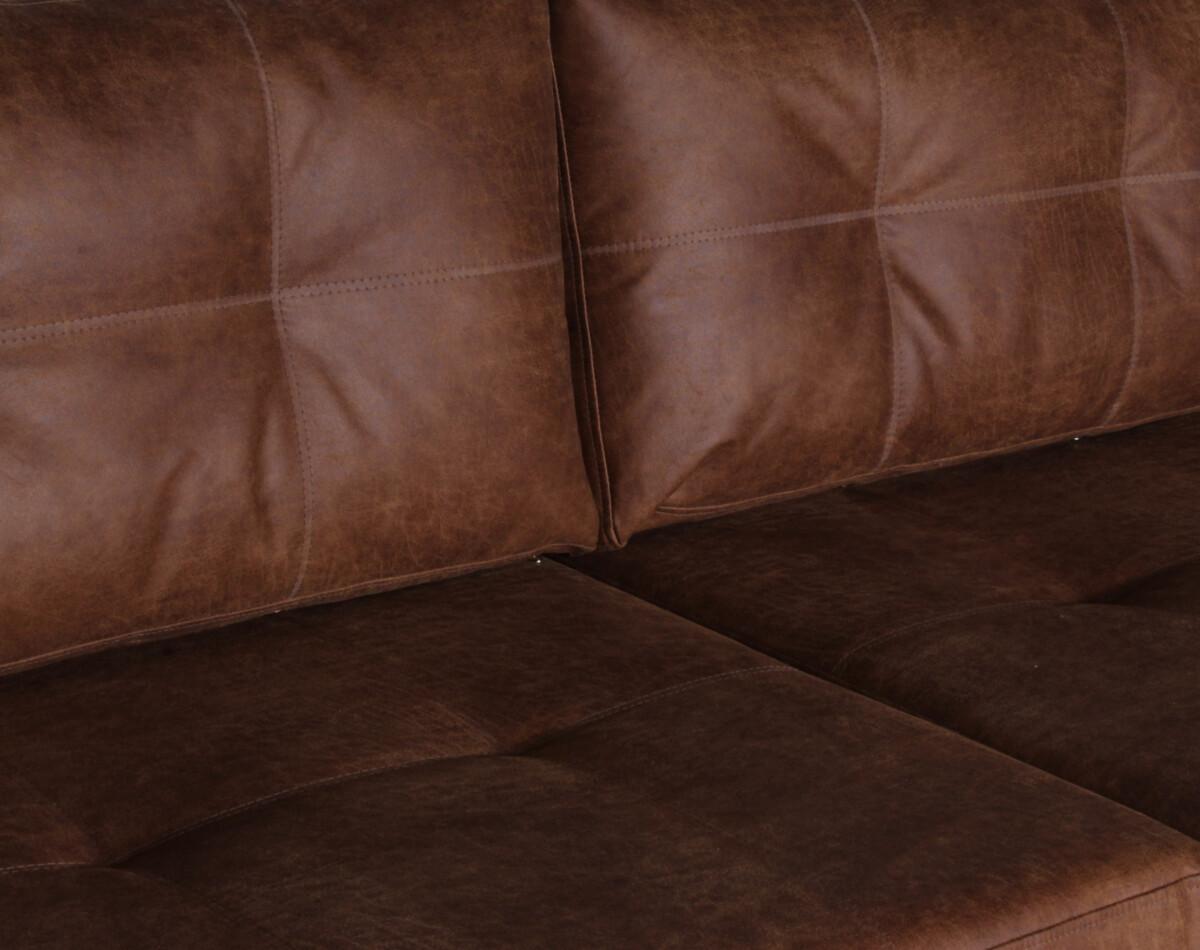 Sofa Modular Cuero Bonded Detalle
