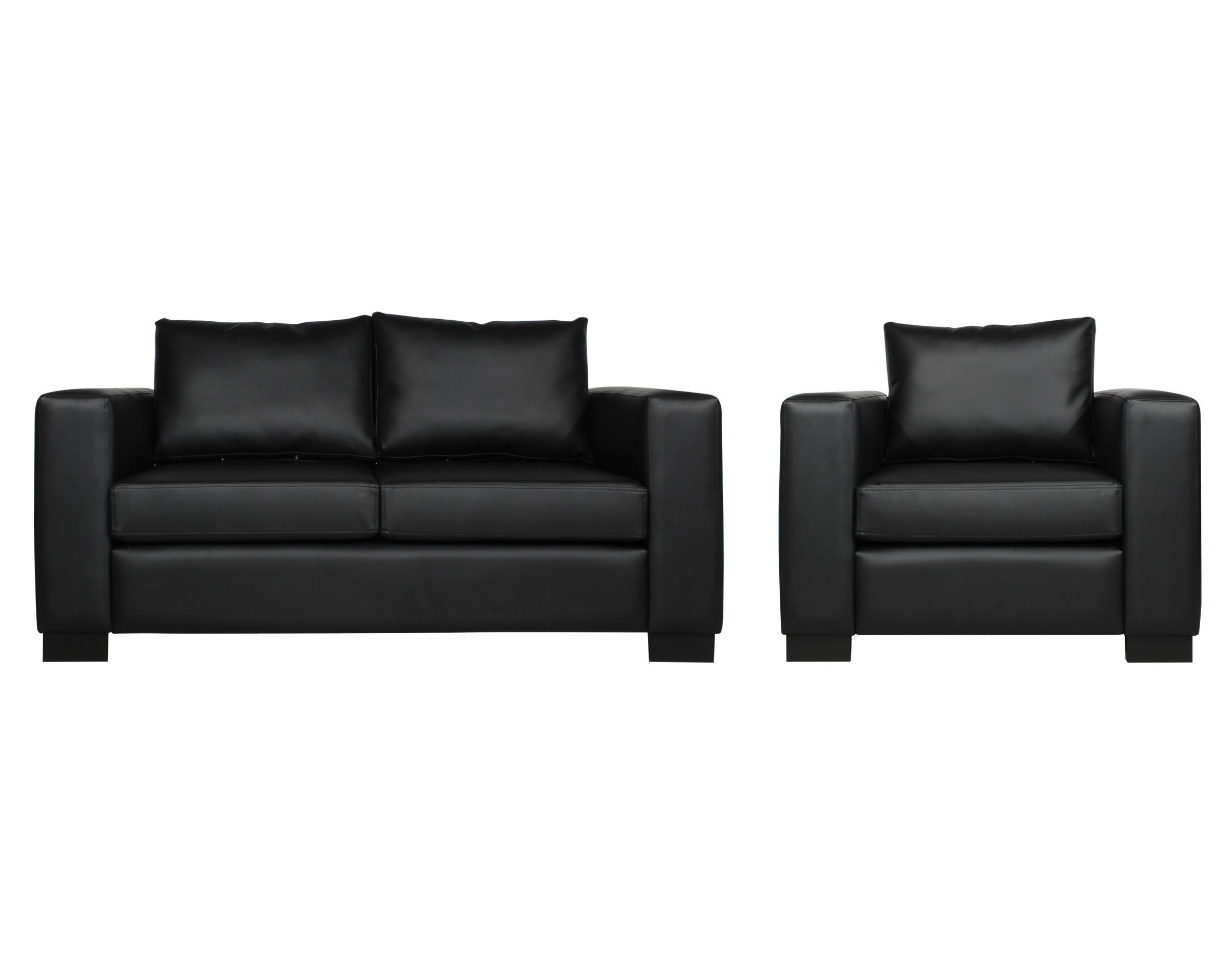 Set sofás Mónaco 1 y 2 cuerpos cuero sintético PU Pana