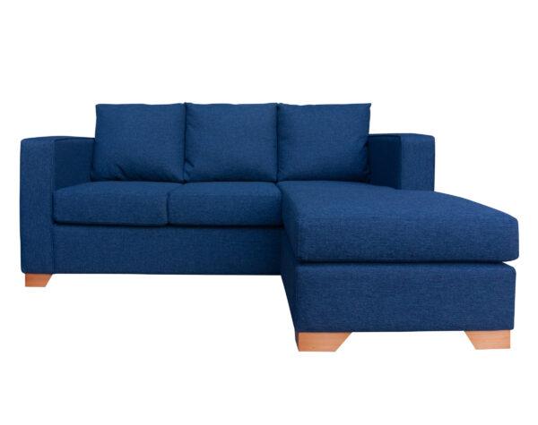 Sofá 3 Cuerpos Milán Chaise Longue Intercambiable Xsd Azul